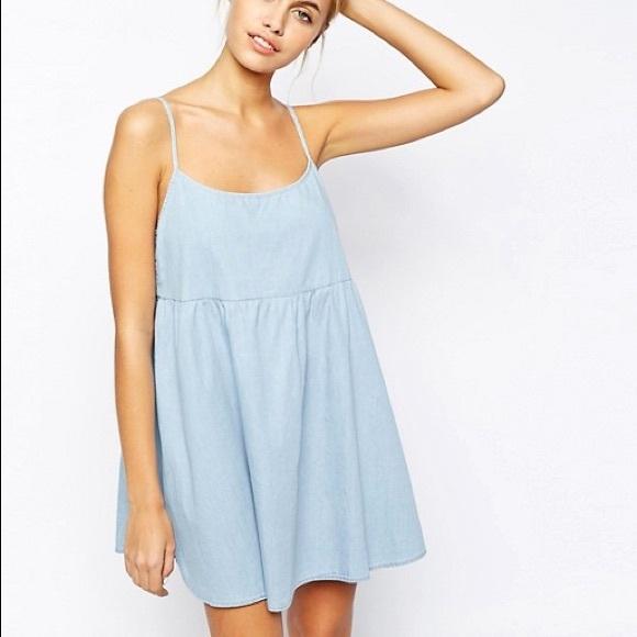 84bbf0ad78 American Apparel Dresses   Skirts - American Apparel Denim Babydoll Dress